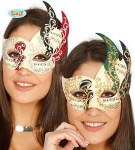 Maschera veneziana note musicali