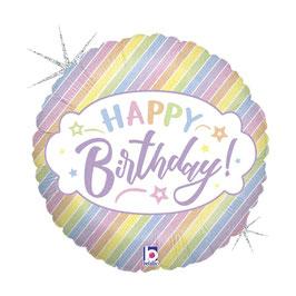 Palloncino happy birthday pastel