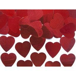 Confetti cuori rossi