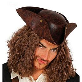 Cappello corsaro cuoio