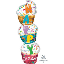 Palloncino Happy birthday muffins xl
