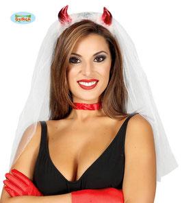 Cerchietto sposa diavoletta