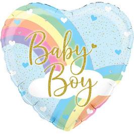 "   Palloncino 18"" mylar Cuore Baby ""Pastel Rainbow"""