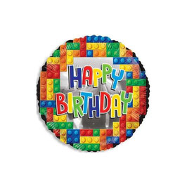 Palloncino happy birthday lego