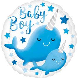 "Palloncino 18"" mylar ""Baby Boy/Girl"""
