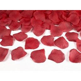 Petali di rosa rossi