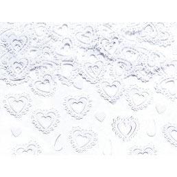 Confetti cuori bianchi