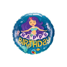 "Palloncino 18"" mylar H. Birthday Mermaid"
