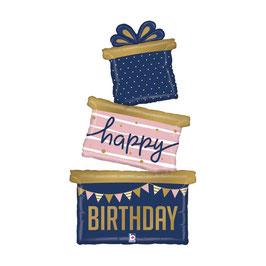 "Palloncino 51"" Multi Balloon Torta ""Navy Birthday Gift Trio"""