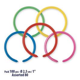 Palloncini Latice Modellabili 100 pezzi 2,5 cm