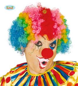 Parrucca clown multicolor