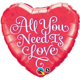 "Palloncino cuore ""all you need is love"""