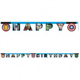 Festone Happy Birthday Avengers