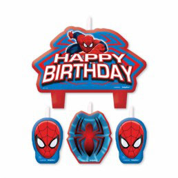 Candeline Spiderman 4pz
