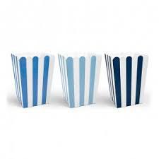 Box a righe blu per popcorn