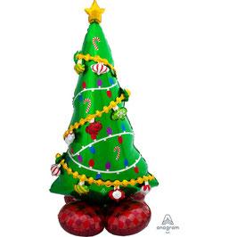 "Palloncino 59"" AirLoonz Albero Natale ""Christmas Tree"""