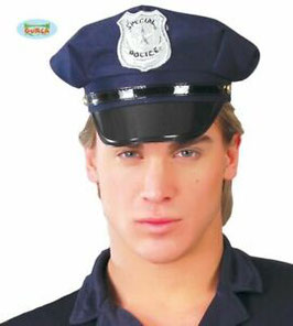 Cappello poliziotto blu