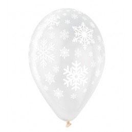Palloncini Lattice Fiocco di Neve 100 pezzi 30 cm