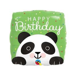 "Palloncino 18"" mylar Happy Birthday Panda"