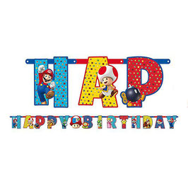 Festone Happy Birthday Super Mario