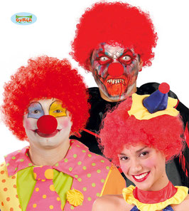 Parrucca clown rossa