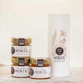 Geschenkbox mit feinem Bioland Honig