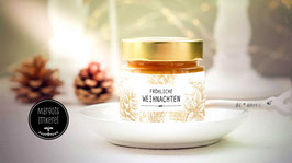 Bio-Honig im Geschenkglas mit Weihnachtsgruß