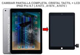 Cambiar / Reparar Pantalla Completa. Cristal tacti + lcd interna  Apple ipad Pro 9.7  ( A1673 , A1674 , A1675 )