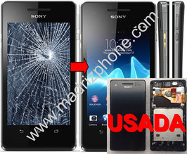 Cambio de PANTALLA COMPLETA Sony Xperia V LT25i Original USADA