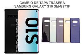 Cambiar / Reparar Tapa de cristal Trasera Samsung Galaxy S10  SM-G973F