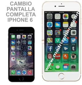 Cambiar Pantalla Completa iPHONE 6 BLANCO/NEGRO