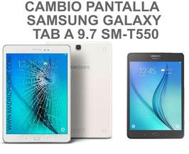 Cambiar / Reparar pantalla completa ( LCD + TACTIL ) Samsung Galaxy TAB A 9.7 SM-T550 , SM-T555