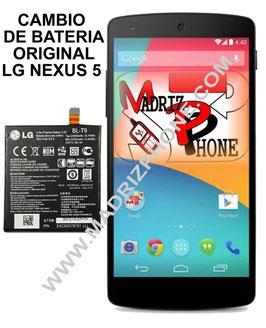 Sustitucion de BATERIA Original LG NEXUS 5 D820,D821