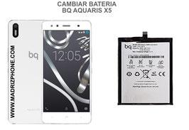 Cambiar / Sustituir Bateria BQ AQUARIS X5 Calidad Premium