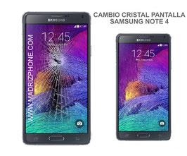 Cambiar / Reparar Cristal de la pantalla Samsung Galaxy NOTE 4 SM-N910F