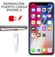Cambiar / Reparar conector de carga Apple iPhone X  (ORIGINAL)