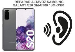 Cambiar / Reparar Altavoz Auricular Samsung Galaxy S20 SM-G980F / SM-G981F