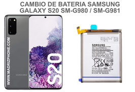 Cambiar / Sustitucion Bateria Samsung Galaxy S20 SM-G980F / SM-G981F