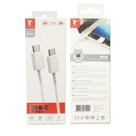 CABLE USB TIPO C A USB TIPO-C  3.0A 1 METRO PARA CARGAR Y DATOS ALTA CALIDAD ,SAMSUNG,HUAWEI,XIAOMI,LG.....