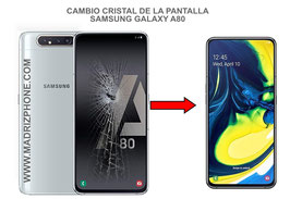Cambiar / Reparar Cristal de la pantalla Samsung Galaxy A80 SM-A805F