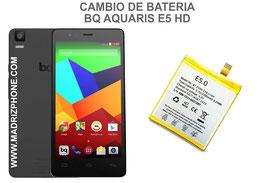 Cambiar / Sustituir Bateria BQ AQUARIS E5 HD Calidad Premium