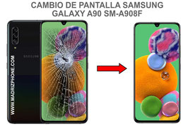 Cambiar / Reparar pantalla completa Samsung Galaxy A90 5G SM-A908F