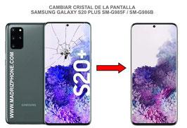 Cambiar / Reparar Cristal de la pantalla Samsung Galaxy S20 PLUS SM-G985F / SM-G986B (s20+)