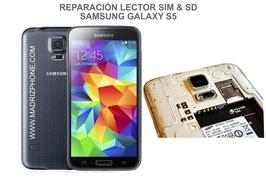 Cambiar / Reparar Lector Tarjeta SIM y SD Samsung Galaxy S5 SM-G900F , I9600