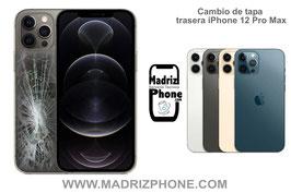 Cambiar Cristal / Reparar Tapa Trasera Apple iPhone 12 Pro Max