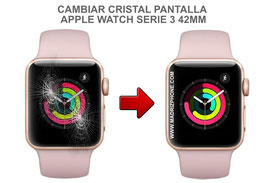 Cambiar / Reparar Cristal de pantalla APPLE WATCH Serie 3 42MM ( A1859 / A1861 / A1891 / A1892 )