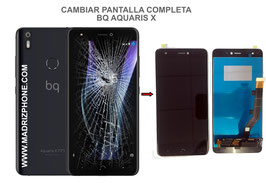 Cambiar / Reparar pantalla completa BQ Aquaris X Calidad Premium