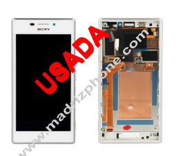 CAMBIAR PANTALLA COMPLETA Sony Xperia M2 D2303 D2305 D2306 Blanca/Negro/Morado Original USADA