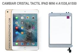 Cambiar / Reparar Cristal Tactil Apple IPAD MINI 4 A1538 , A1550
