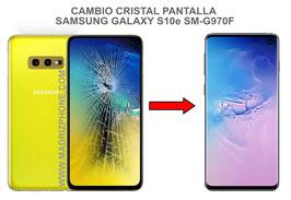 Cambiar / Reparar Cristal de la Pantalla Samsung Galaxy S10e SM-G970F